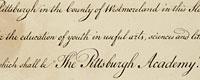 Pitt's Original Charter